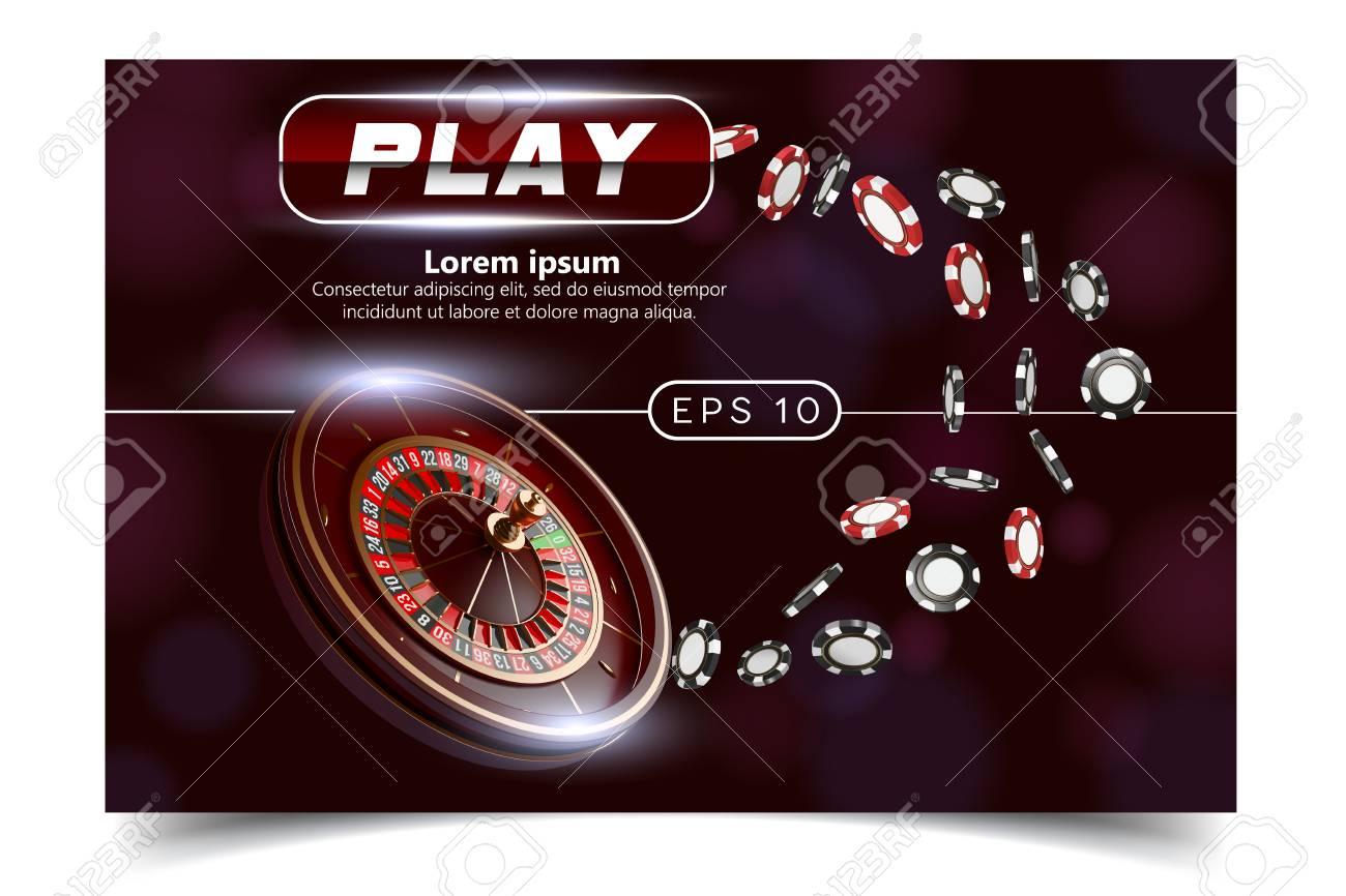 Casino background style Ace, Vip flyer invitation poker game