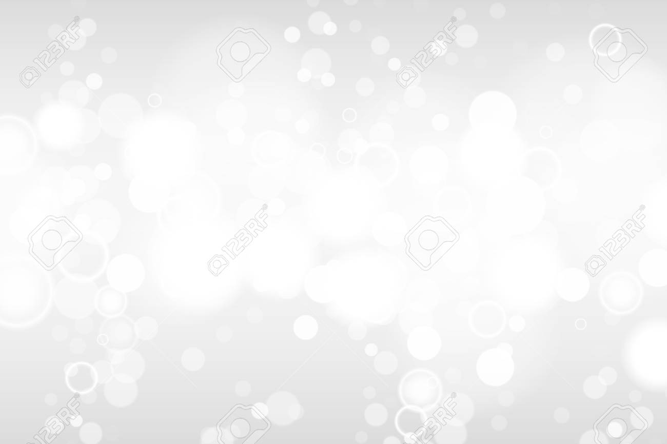 Silver and white bokeh lights defocused. Abstract background. Elegant, shiny, blurred light background. EPS 10 - 125788867