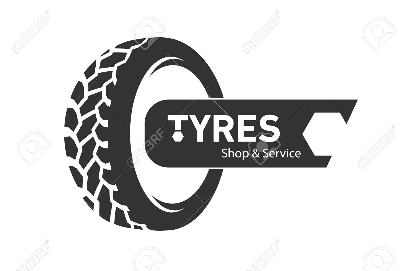 Tyre Shop Logo Design Tyres Wheel Business Branding Tyre Logo Royalty Free Cliparts Vectors And Stock Illustration Image 120842848