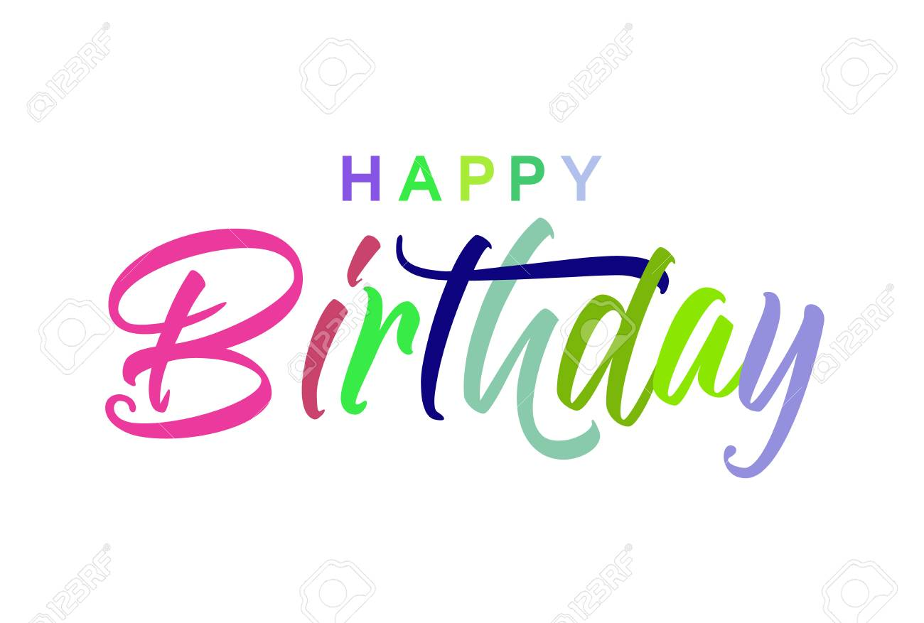 Beautiful Birthday Card Exclusive Colourful Card