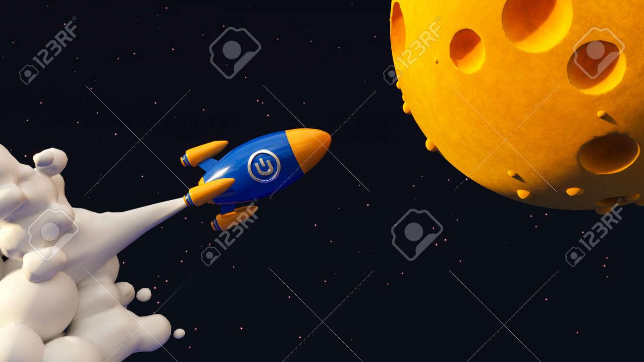 Dash To The Moon. Crypto Rocket - 169930637