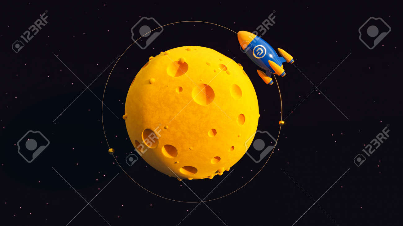 Dash To The Moon. Crypto Rocket - 169930633