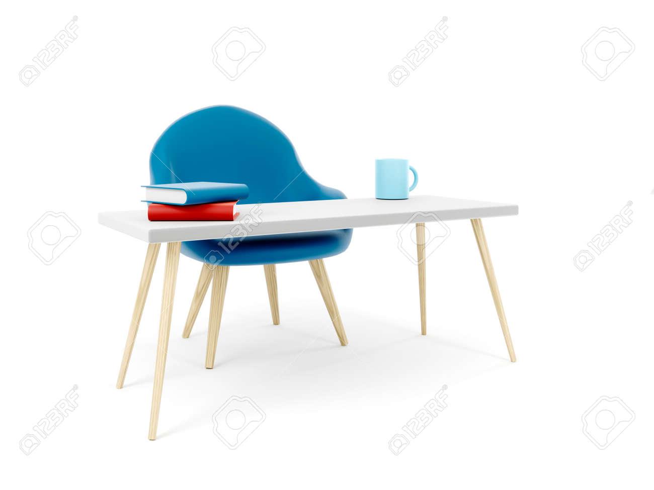 Office table for work, furniture concept 3d illustration - 171588108