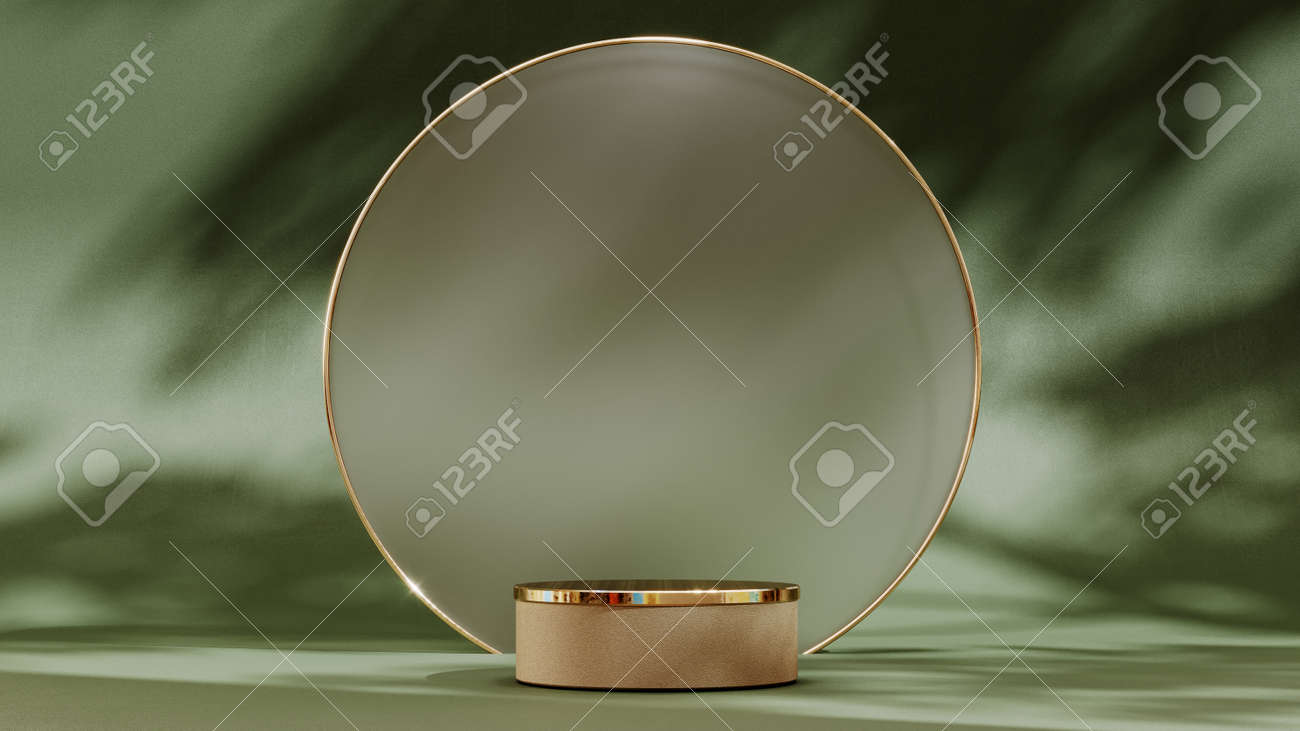 Abstract pedestal, blank platform for product display. Round podium for product presentation. Premium Photo - 172803647