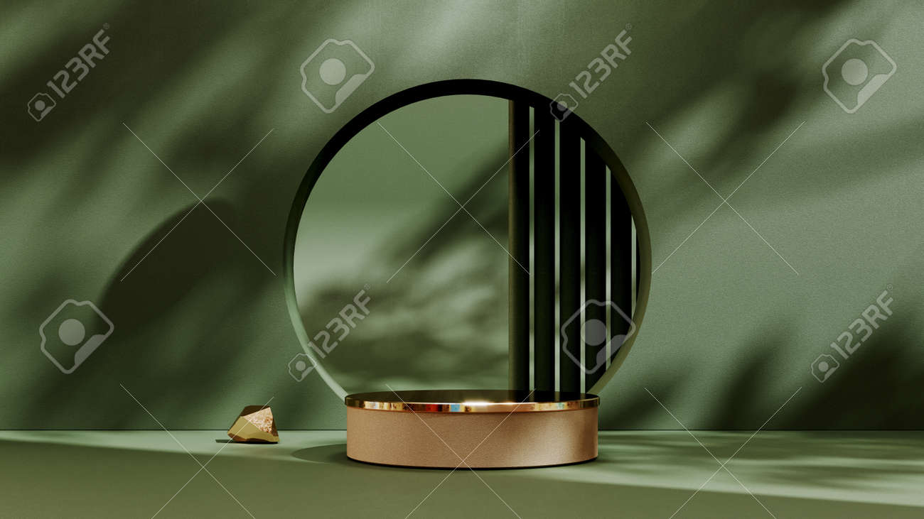 Abstract pedestal, blank platform for product display. Round podium for product presentation. Premium Photo - 172803651