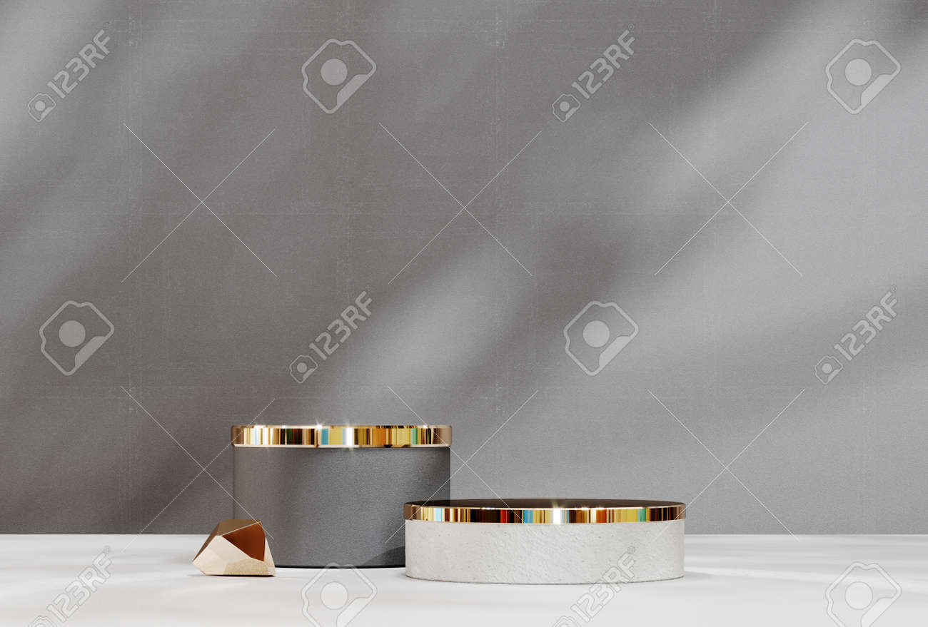 Abstract pedestal, blank platform for product display. Round podium for product presentation. Premium Photo - 172803664