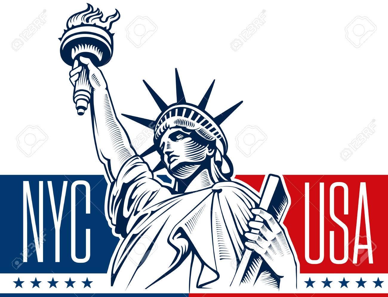 ニューヨークで自由の女神像のイラスト素材ベクタ Image 59567295