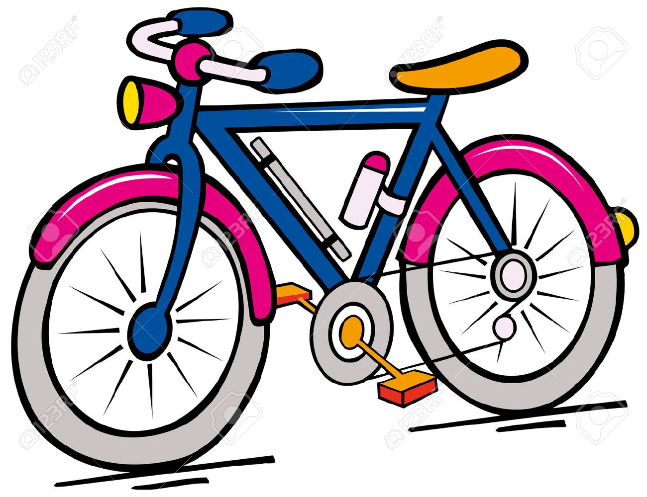 bike cartoon royalty free cliparts vectors and stock illustration rh 123rf com cartoon bikes and scooters cartoon bikes wallpapers