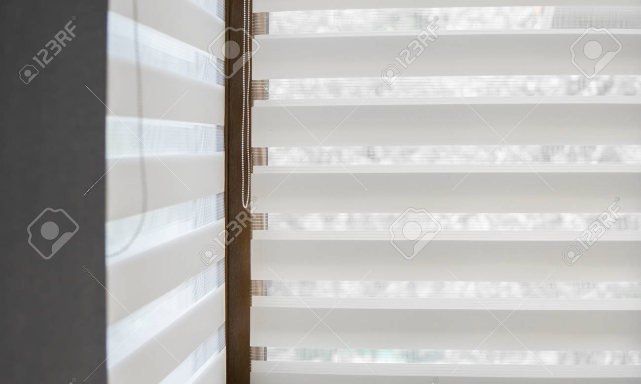 Details Of White Fabric Roller Blinds On The Plastic Window With Stock Photo Picture And Royalty Free Image Image 105580159