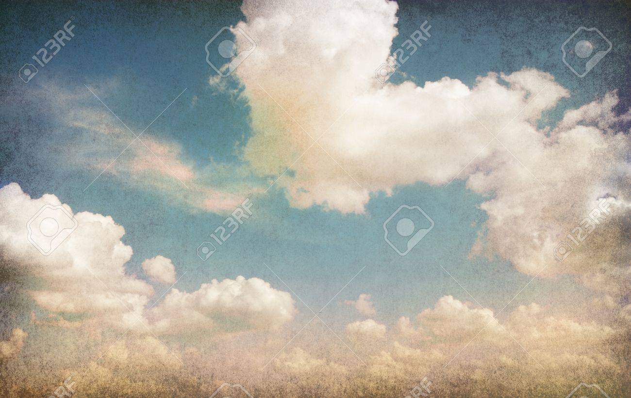 Retro image of cloudy sky Stock Photo - 18028621