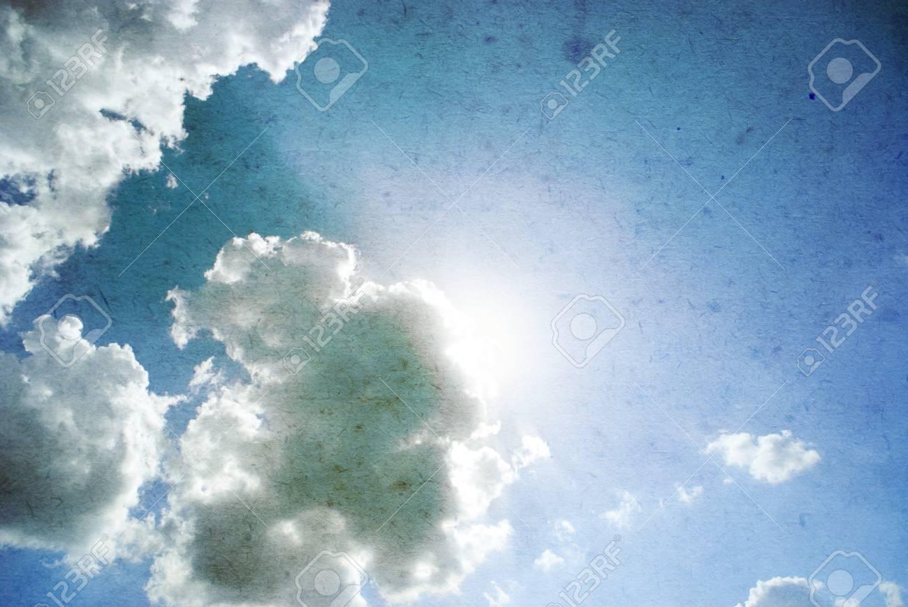 retro image of cloudy sky Stock Photo - 18105810