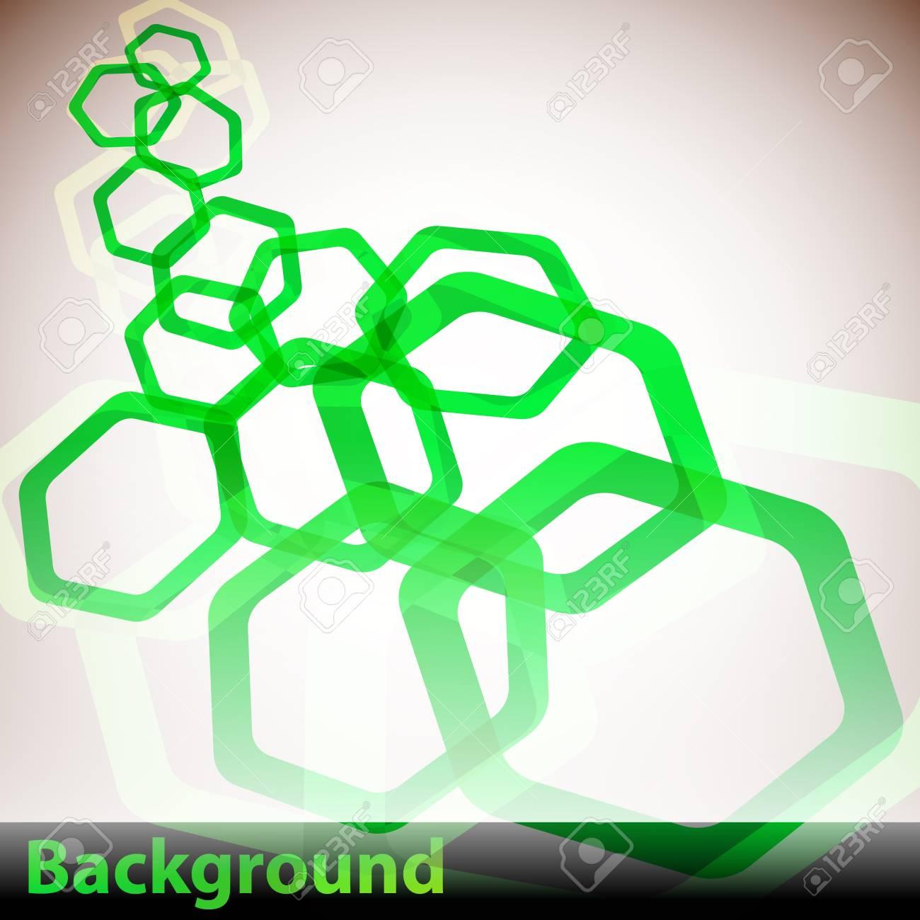 Hexagon Background Stock Vector - 10769366