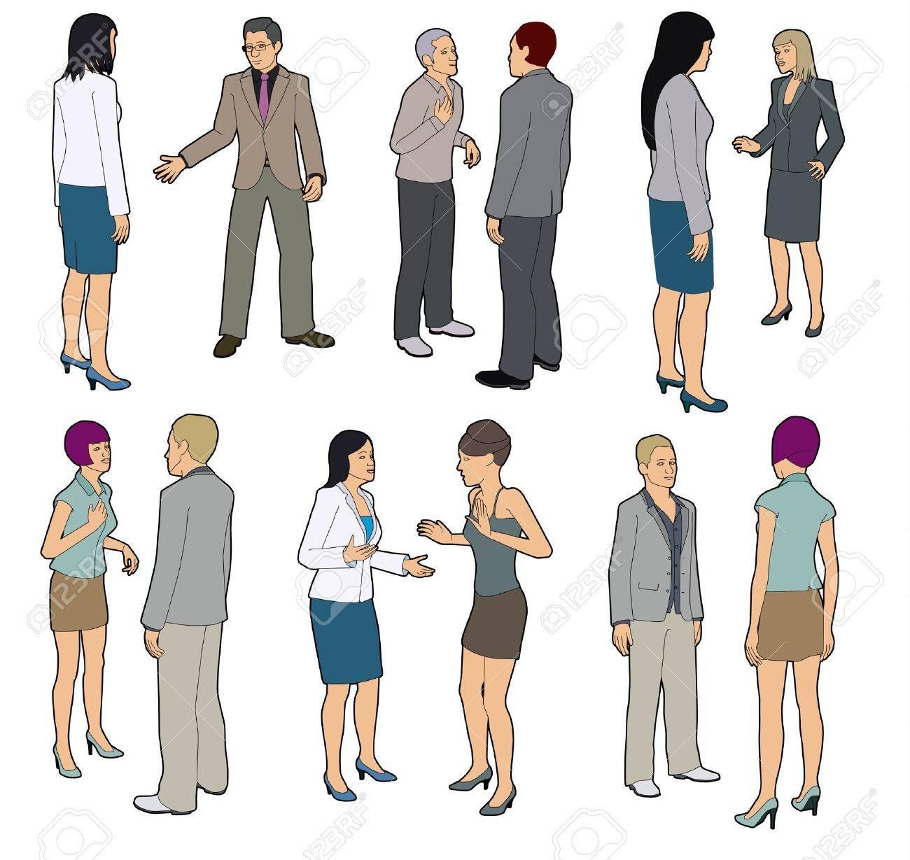 Talking people Stock Vector - 17039731