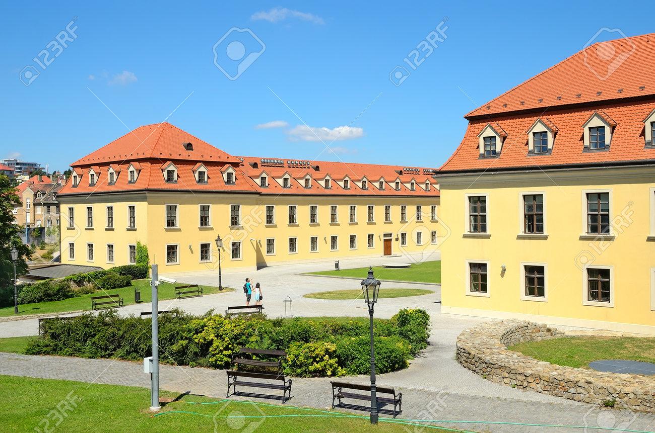 BRATISLAVA - AUGUST 1  Courtyard Of Bratislava Castle On August ... 20dc8e23a0b