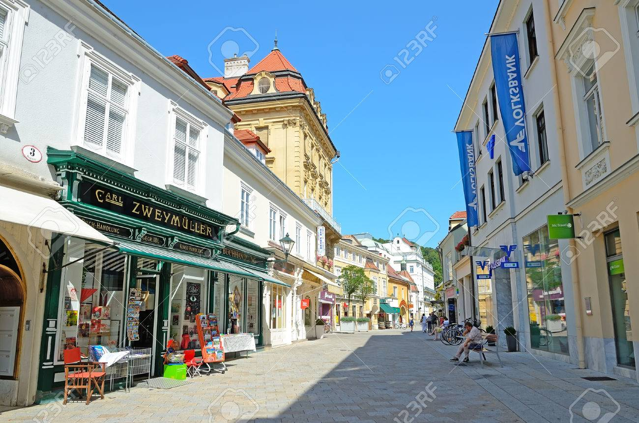 BADEN, AUSTRIA-JULY 29 View Of Baden On July 29, 2013 In Baden,.. Stock  Photo, Picture And Royalty Free Image. Image 23969504.