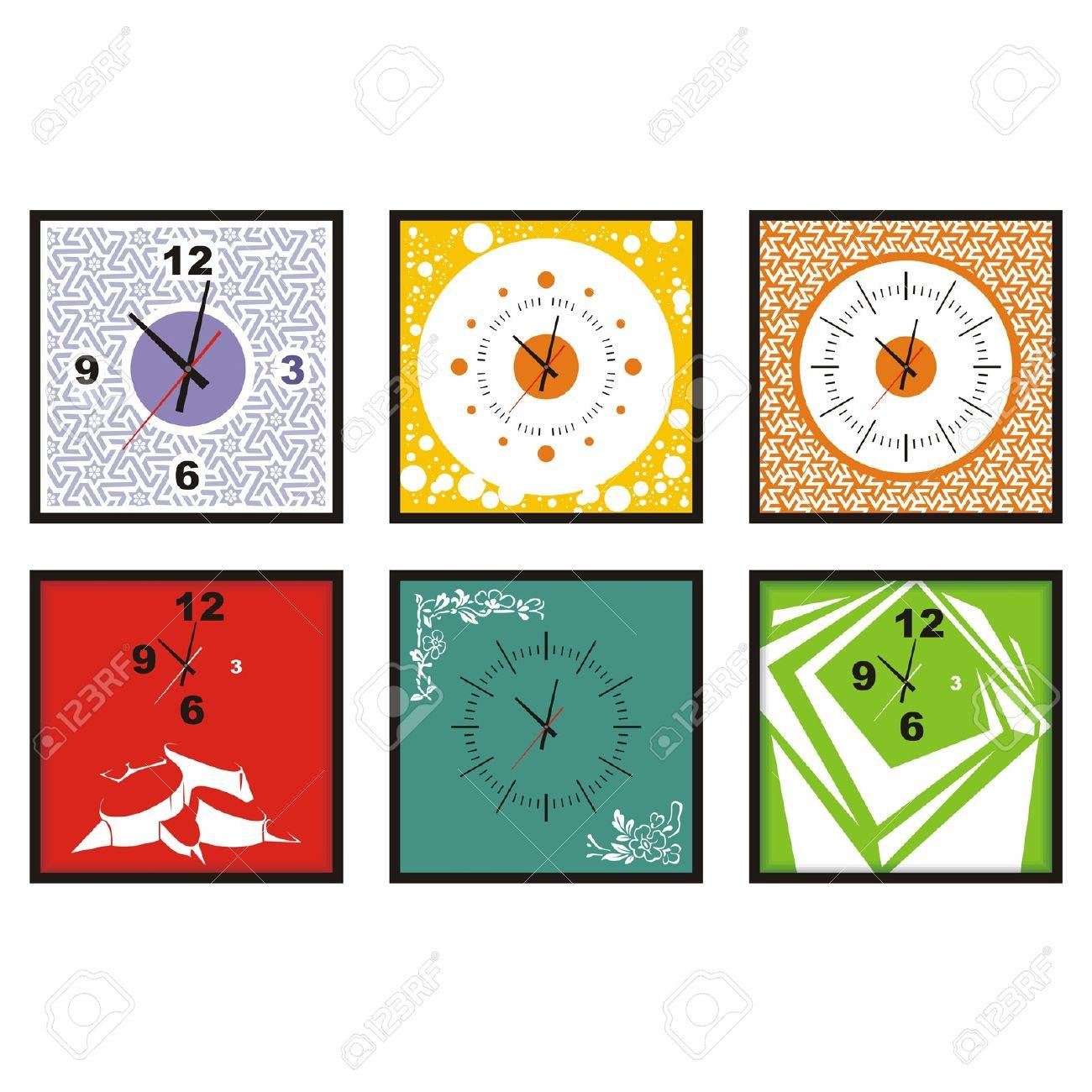 collection of wall clock vector Stock Vector - 11945575