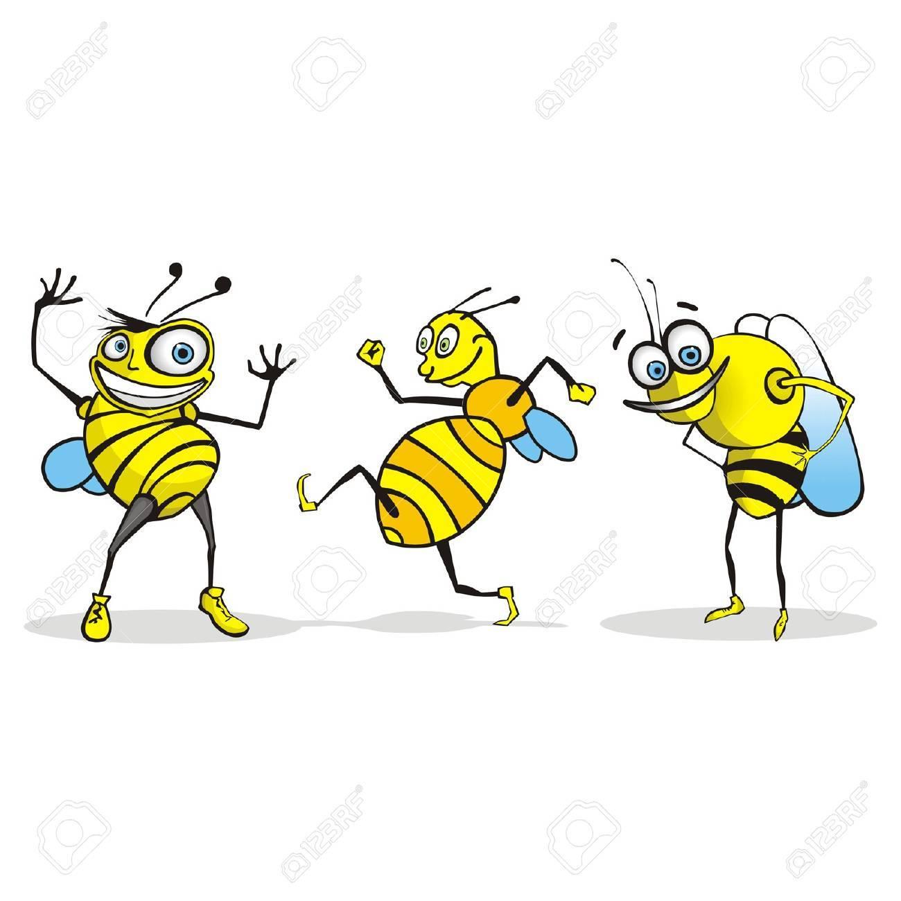 Bee Cartoon Character Stock Vector - 11945558