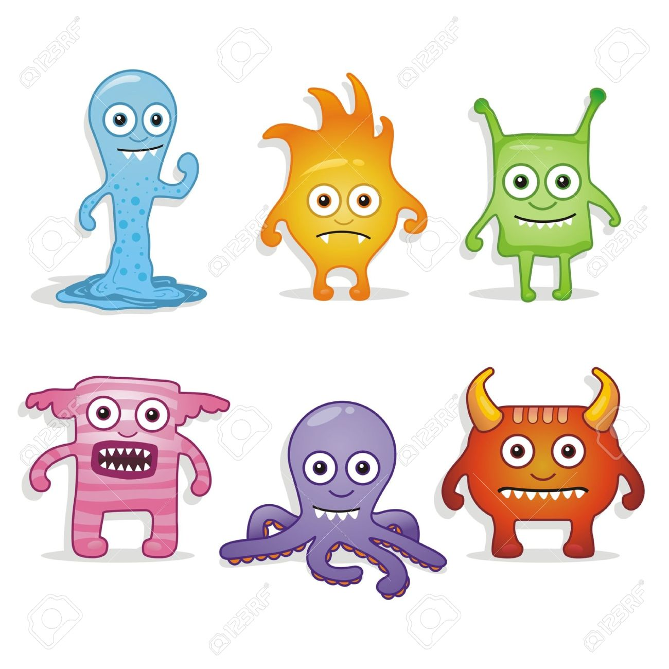 Cartoon Monsters Royalty Free Cliparts, Vectors, And Stock ...