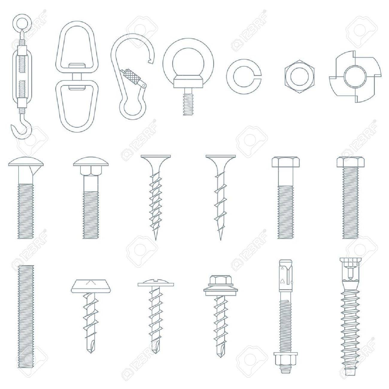 Seamless nuts and bolts Stock Vector - 12379326