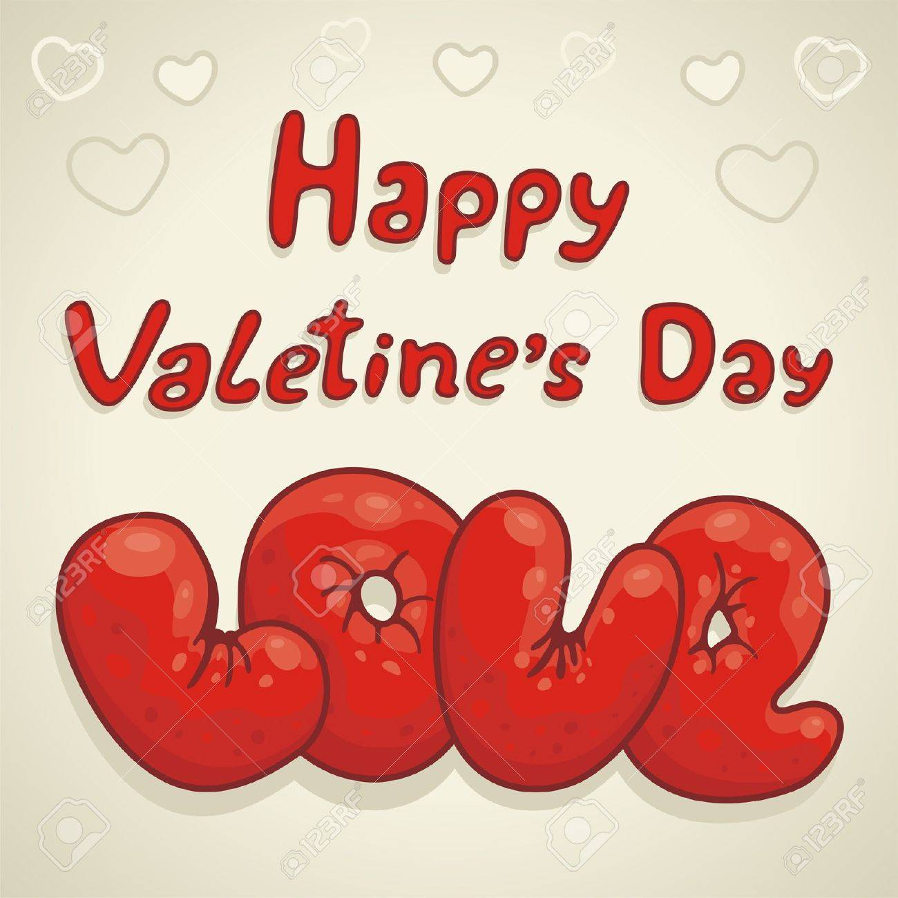Valentines Day type text Stock Vector - 17240930