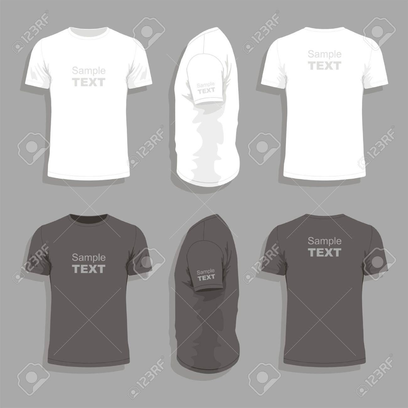 Mens Plantilla De Diseño De La Camiseta Ilustraciones Vectoriales ...