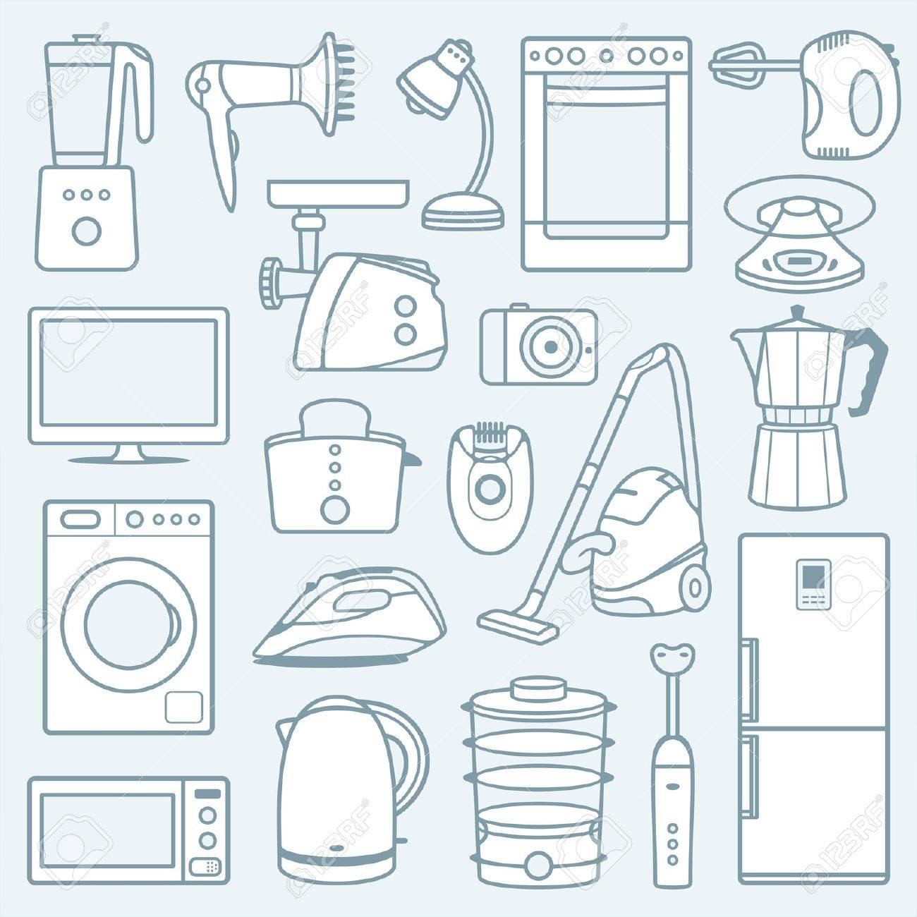 Home appliances a background Stock Vector - 19829497