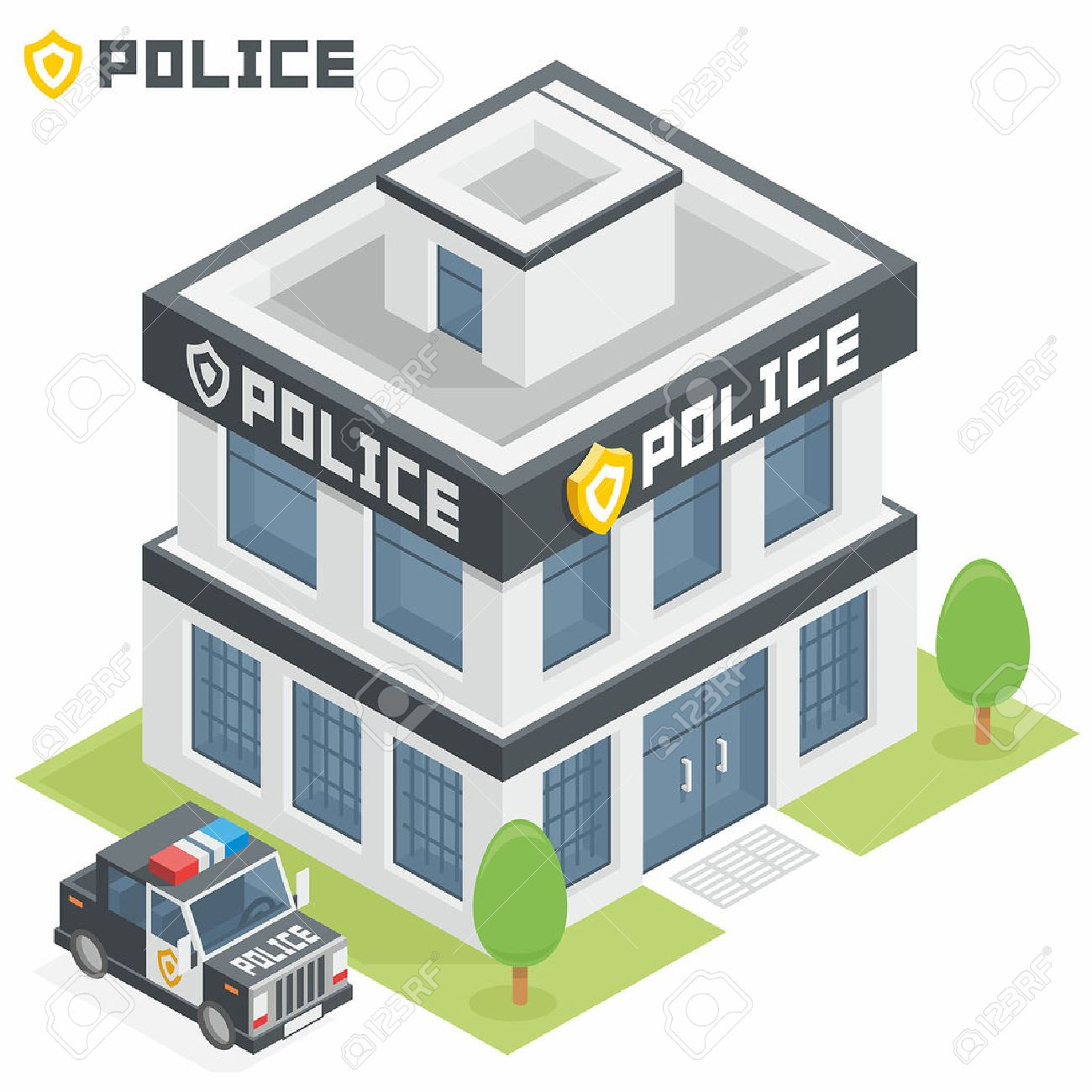police department building royalty free cliparts, vectors, and stock