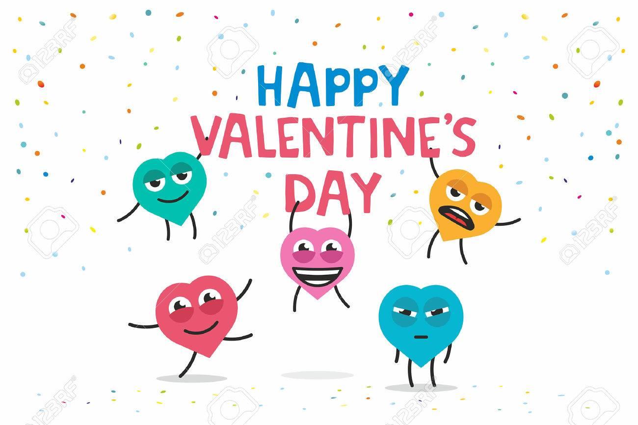 Carte De Voeux Drole Bonne Fete Saint Valentin Clip Art Libres De