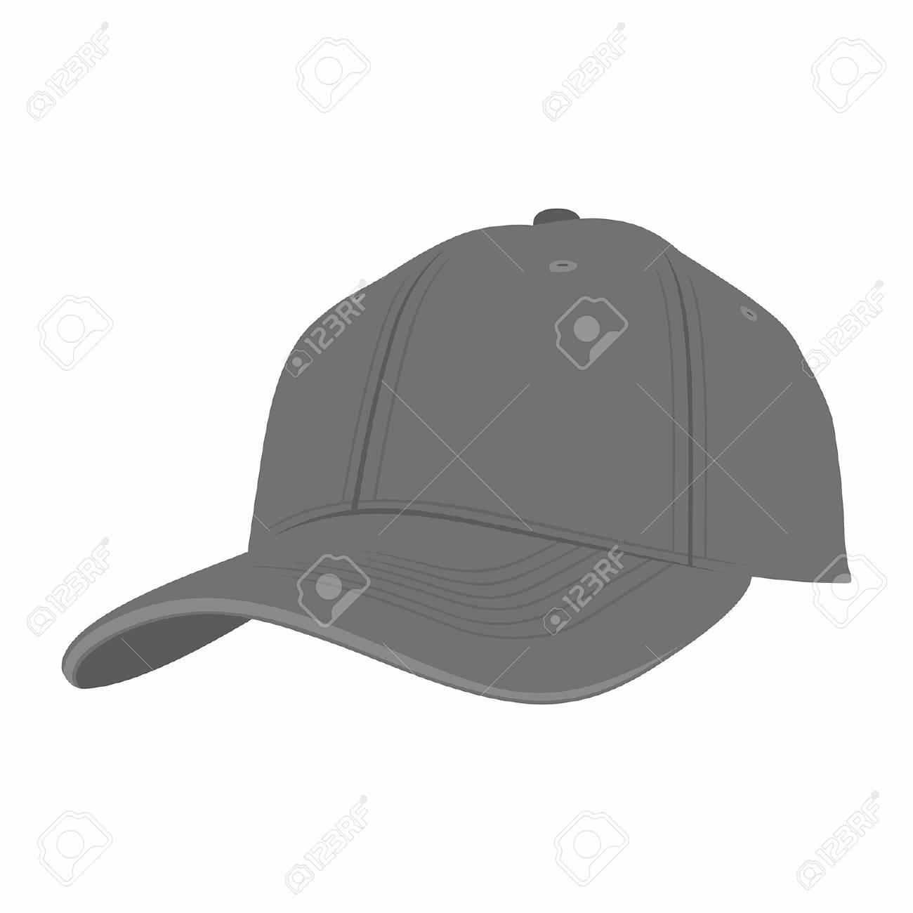 8dfdcd10 Black Baseball Cap isolated on white background Stock Vector - 95158413