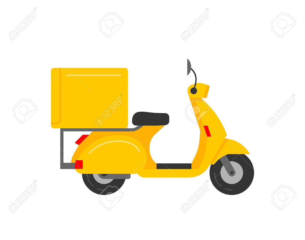 Scooter Courier isolated on white background - 122504798