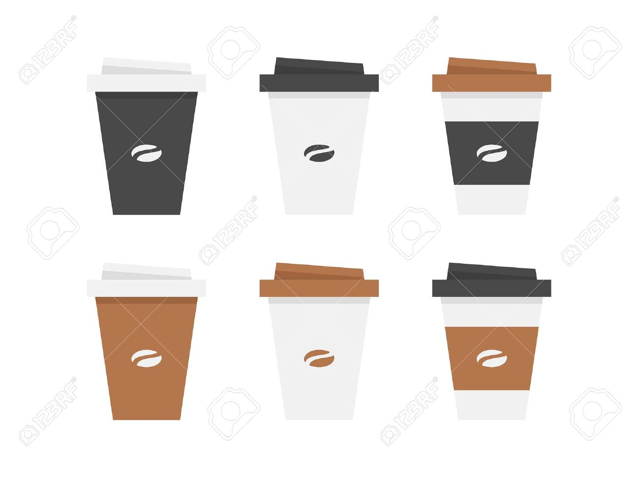 Plastic coffee cup. isolated on white background - 136461517