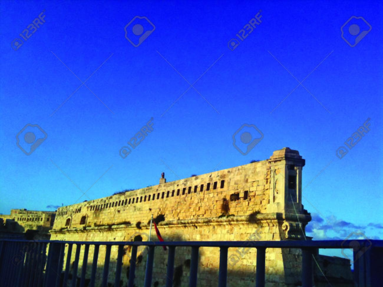 Maltese Fortress Wall - 34359899