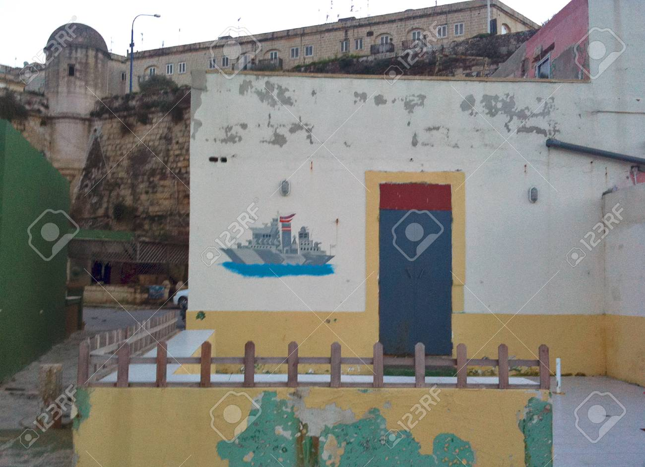 Building in a fishing village located in Malta - 34391435