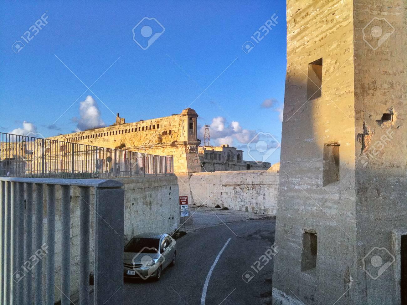 A fortress on the coast of Malta - 34360451