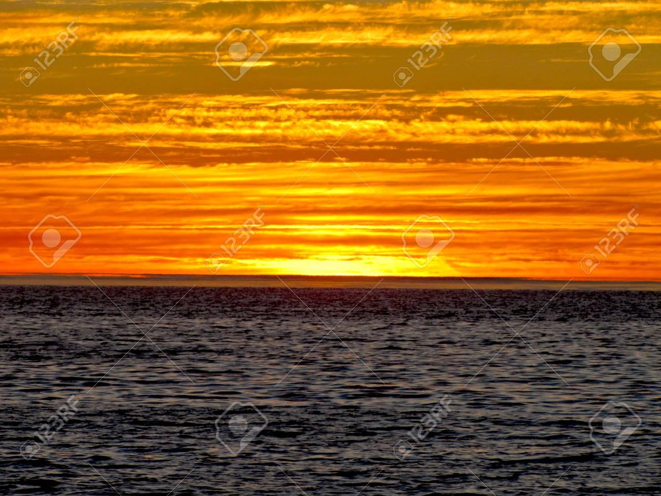 A grand sunset over Lake Michigan - 34435133