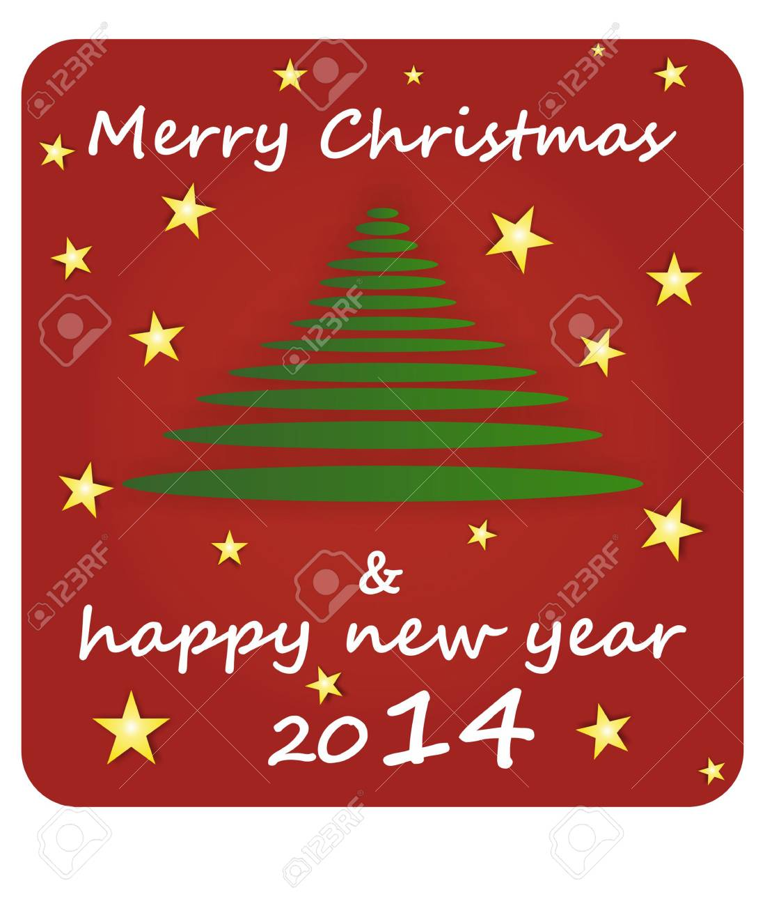 Merry Christmas And Happy New Year 2014 Royalty Free Cliparts ...