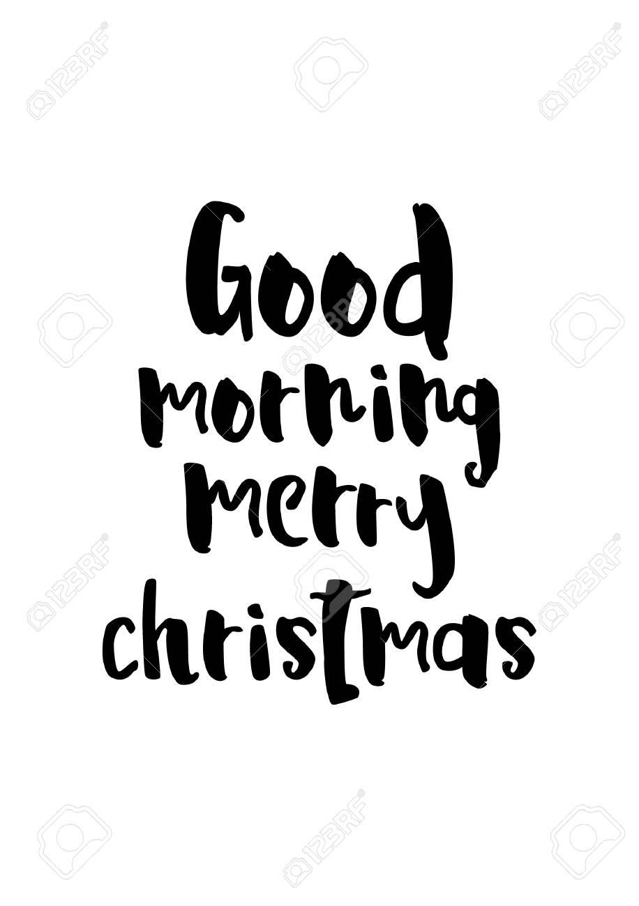 Buon Natale 883.Biglietto Di Auguri Di Natale Con Pennello Calligrafia Vector Nero Con Sfondo Bianco Buon Giorno Buon Natale