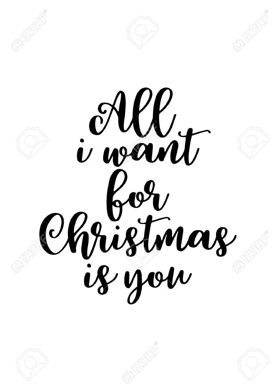 Vettoriale Cartolina Dauguri Di Natale Con La Calligrafia