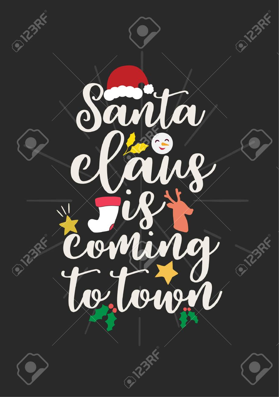 Christmas Quote Lettering Print Design Vector Illustration Royalty Free Cliparts Vectors And Stock Illustration Image 90757257