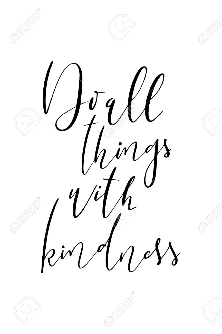 Hand Drawn Word Brush Pen Lettering With Phrase Do All Things Royalty Free Cliparts Vectors And Stock Illustration Image 99901399