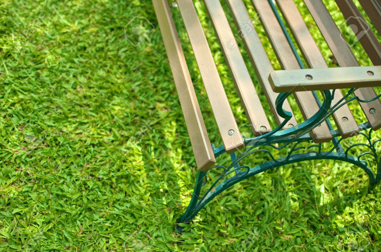 Picture of: Partially Top View Of Wood Seat With Metal Structure Bench On Stock Photo Picture And Royalty Free Image Image 13328869