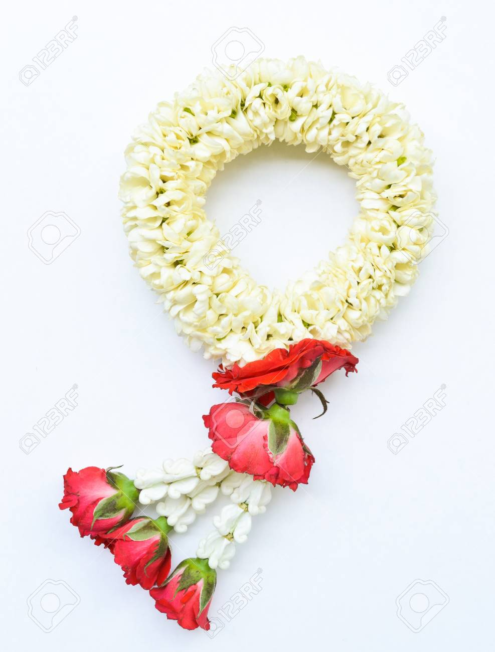 traditional thai style garland on white background Stock Photo - 13328807