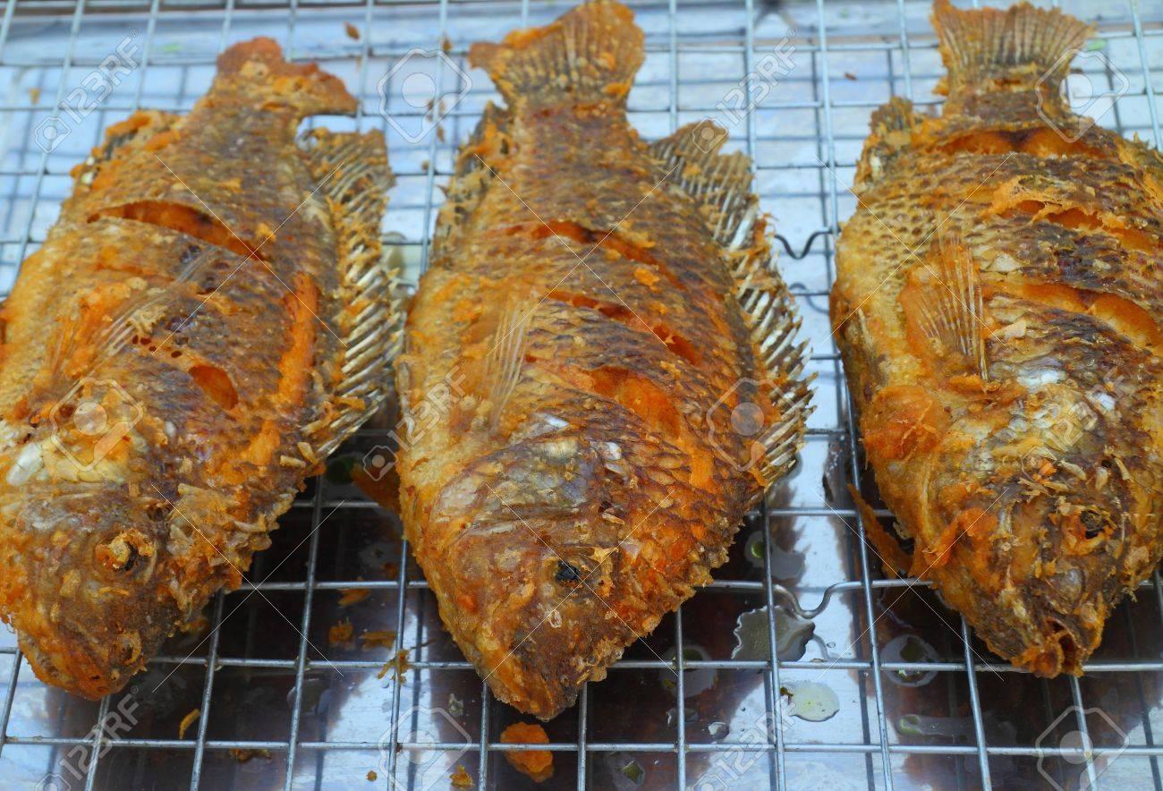 Fried tilapia fish Stock Photo - 17164585