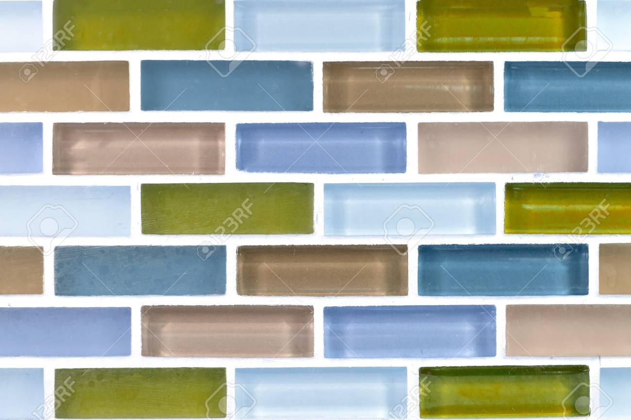 Long Ceramic Brick Tile Wallbackground Stock Photo Picture And