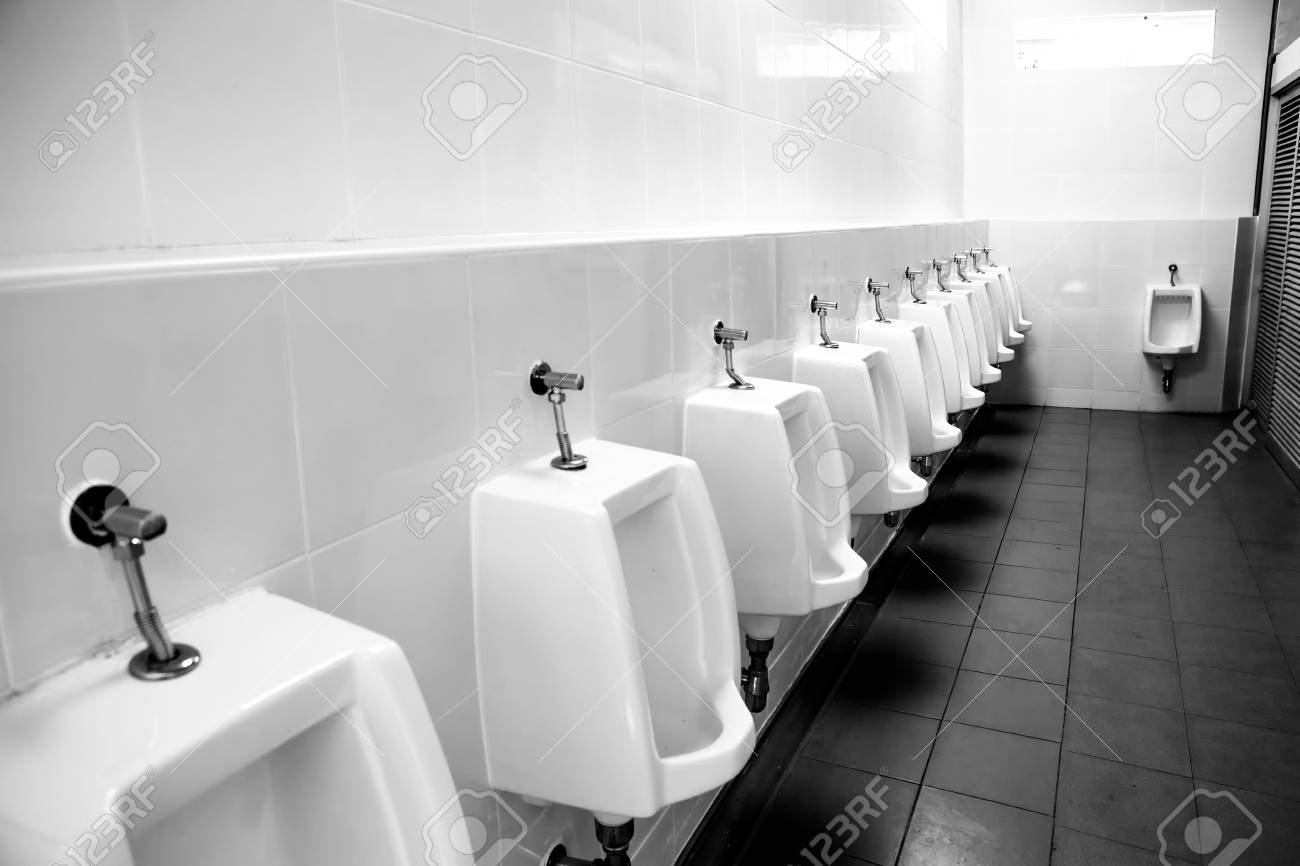 Clean Urinals Men In Gas Station Toilet Stock Photo Picture And Royalty Free Image Image 80515630