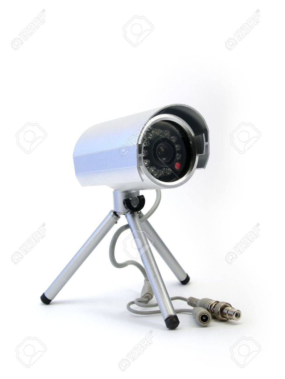 Security CCD video camera isolated on white background Stock Photo - 3659156