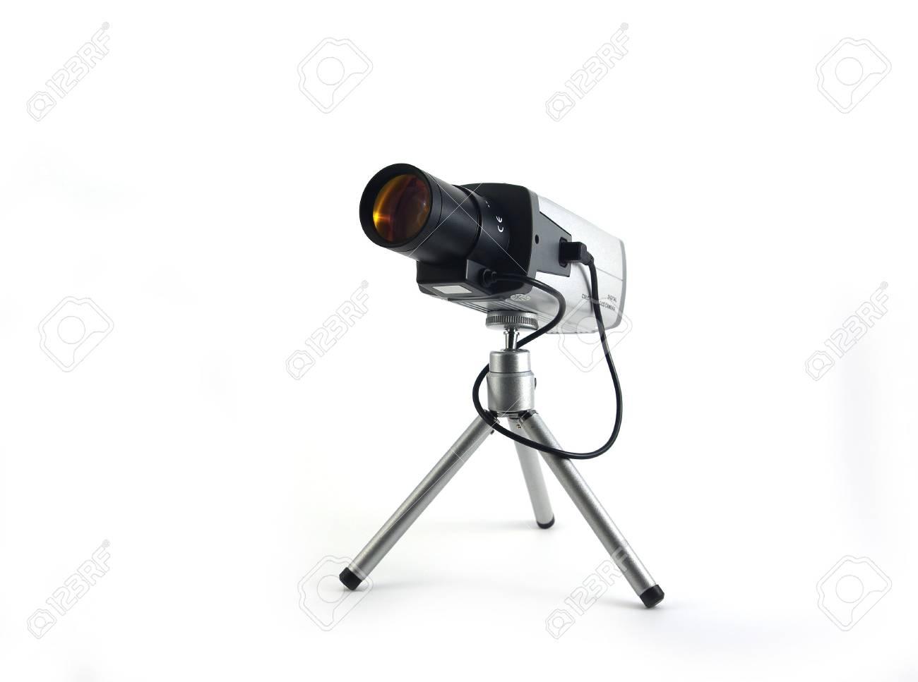Security camera isolated on white background Stock Photo - 3873017