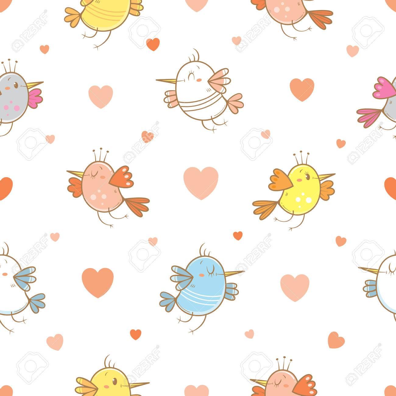 Nahtlose Muster Von Valentinstag Auf Weissem Hintergrund Nette