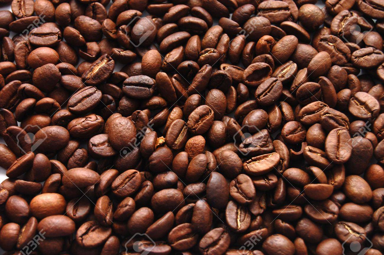 The top view on a background from coffee grains Stock Photo - 4800718