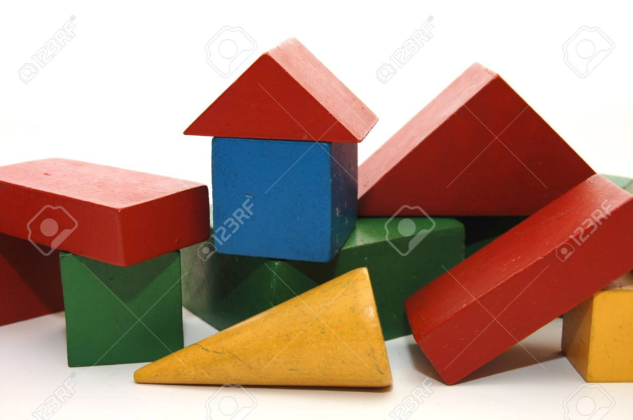 building from wooden colourful childrens blocks Stock Photo - 4842257